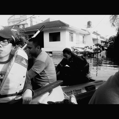 Flood Jakarta Black And White February 2015