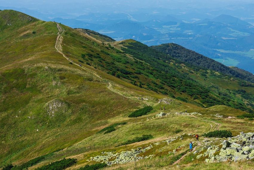 Hiking Landscape Nature Mountain Beauty In Nature People Mountains And Sky People Walking  Hikers Hiking Adventures Mountain Range Mala Fatra Slovakia Travel Sublime Living