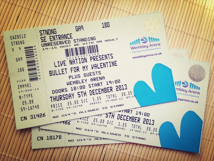 Bullet For My Valentine Young Guns AskingAlexandria Concert Tickets