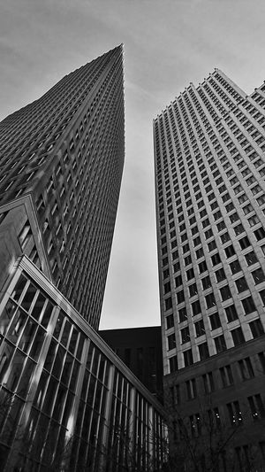 City Skyscraper Architecture Building Exterior Modern City Life Low Angle View Built Structure Urban Skyline No People Cityscape Urban Geometry Den Haag Urbanphotography 070 Blackandwhite Monochrome