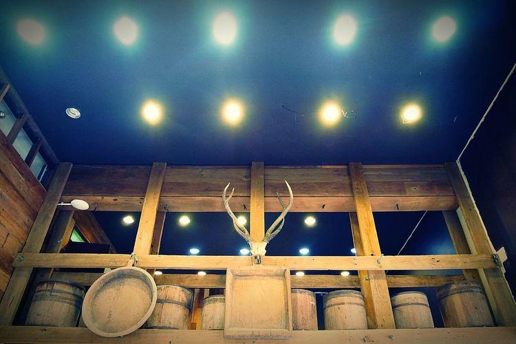 Decoration Cafe Cafe Decoration Ceiling Ceiling Lights Ceiling Design Black Ceiling Barrel Deer Deer Moments Deer Hunting Deer Horns Illuminated No People Night Sport Indoors