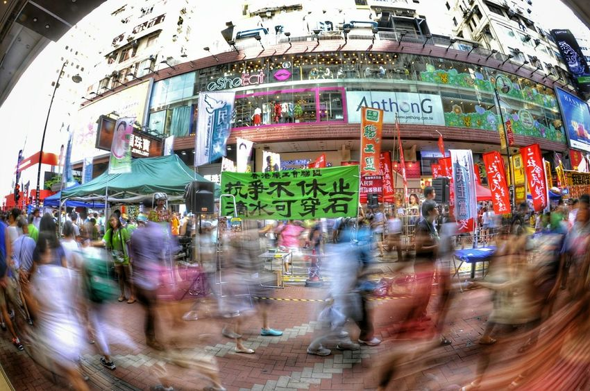 The Photojournalist - 2015 EyeEm Awards Hongkonger 我要真普選 Long Exposure Banner at 71大遊行 My Best Photo 2015