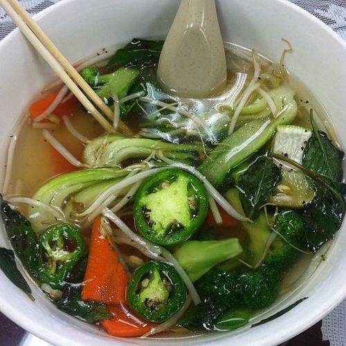 Soup with no noodles just veggies Reenergize Lovemesomebokchoy ?
