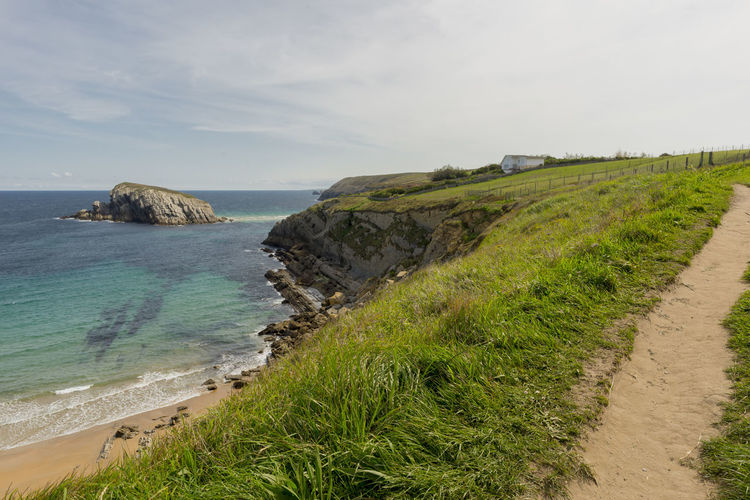 Arnia Arniabeach Beach Beauty In Nature Cantabria Coast Day Grass Horizon Over Water Landscape Nature Nature No People Outdoors Scenics Sea Sky SPAIN Tranquil Scene Tranquility Water