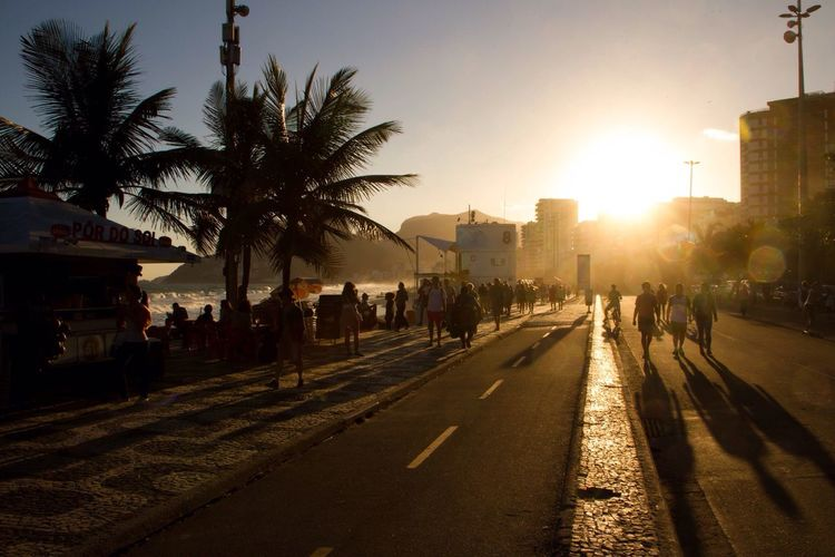 Ipanema Beach Ipanemabeach Ipanema Sunset Golden Hour Rio De Janeiro Rio City Life Beach Life Against The Sun