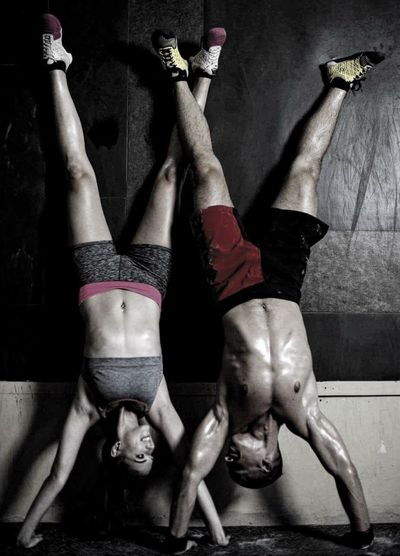 Couple Crossfit Dedication Exercise Handstand  Love Nopainnogain Reebok Relationship Sport Training Workout Gym Fitness