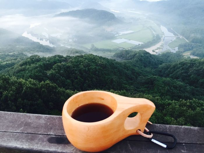 Bushcraft Backpacking Check This Out Hanging Out Hello World Relaxing Taking Photos Enjoying Life Coffee Time LPhoneography Drip Coffee Early Morning Mountains Around The City  Foggy Morning Kuksacup