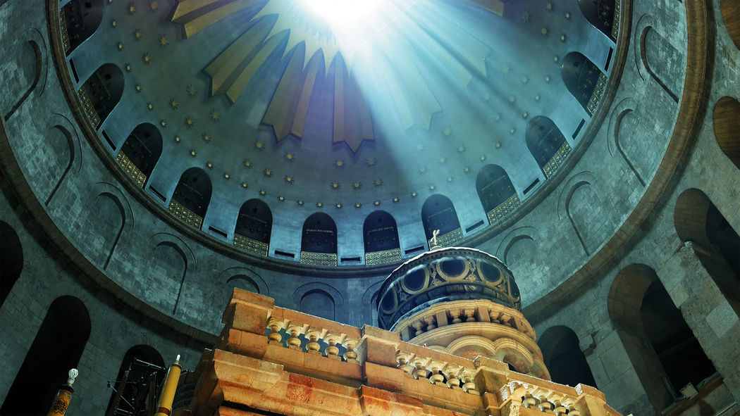 Calvary Church Holy Sepulchre Architecture Building Exterior Built Structure Day Empty Tomb Indoors  Lens Flare Low Angle View No People Place Of Worship Religion Sky Spirituality Sunbeam Sunlight Travel Destinations Window An Eye For Travel