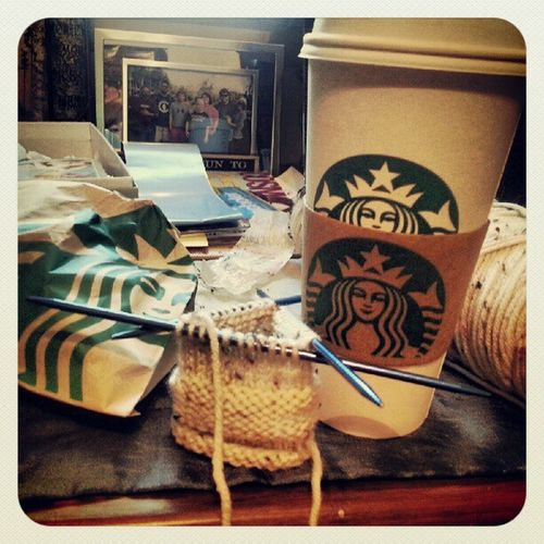 Morning breakfast. Cinnamondolcelatte Knit Dpns Starbucks