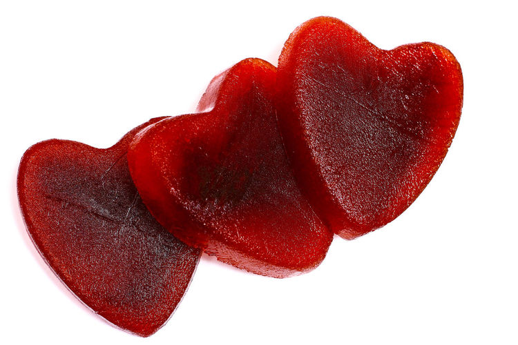 Red heart shaped ice isolated on a white background Bond Celebration Couple Date Engagement Fondness Ice Love Red Relationship Relationships Romance Valentine Valentine's Day  Wedding Bonding Cut Out Date Night Emotion Heart Heart Shape Marrage Passion Symbol Togetherness