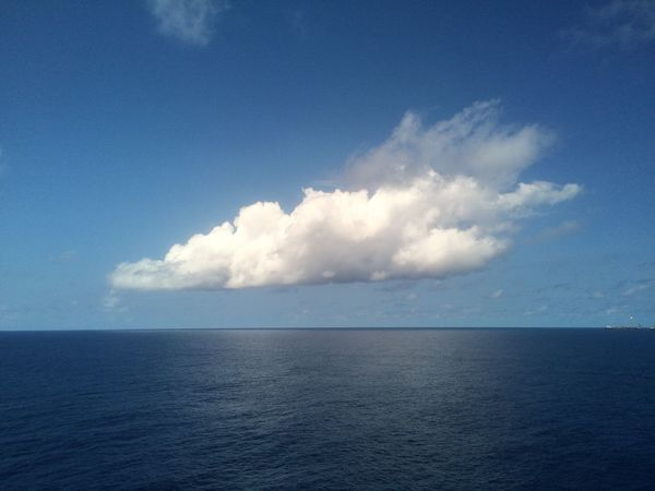 White cloud,blue sky and sea Sea Sky Cloud - Sky Scenics Nature Horizon Over Water Tranquil Scene Water Beauty In Nature Idyllic Tranquility Day Outdoors No People South China Sea Offshore Platform Oil&gas