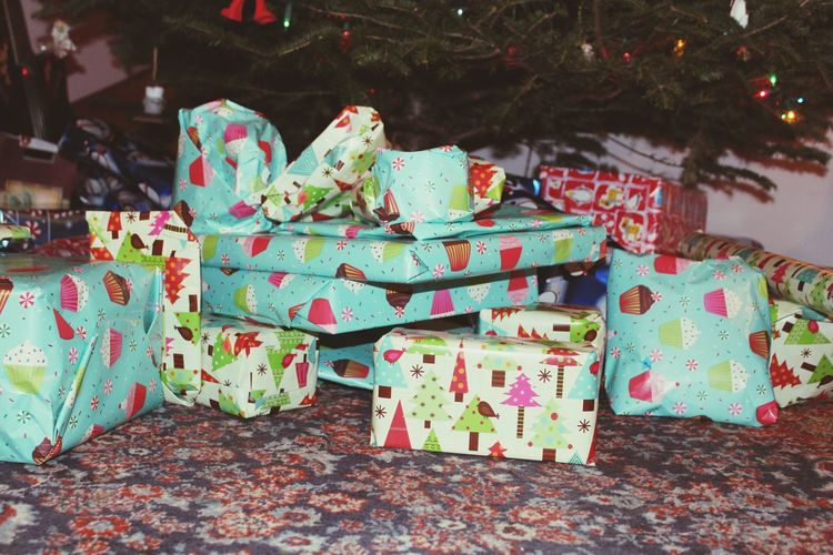 Christmas Chrismas Presents Christmas Presents  Gifts ❤ Wrapping Paper Under The Tree
