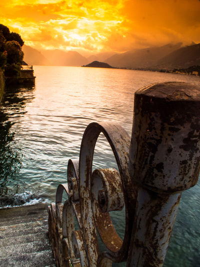 Beach Beauty In Nature Bellagio Cloud - Sky Day Drama Dramatic Sky Lago Di Como Nature No People Outdoors Rock - Object Scenics Sea See Sky Sonnennuntergang Sunset Water Wave