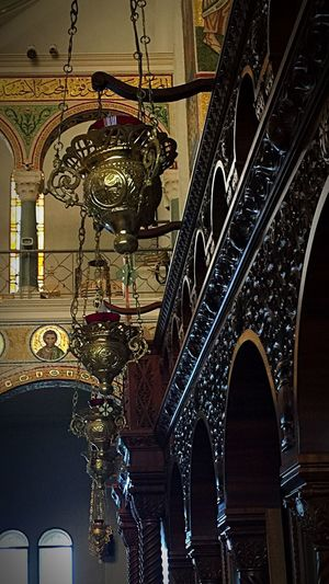 Architecture Low Angle View Ornate Hanging Built Structure Arch Indoors  No People Church Lebanon East Mediterranean