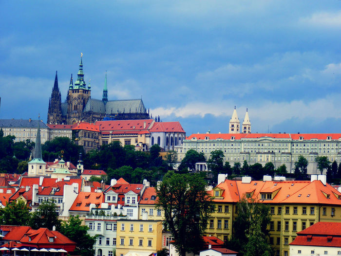 St Vitus Cathedral In City Against Sky