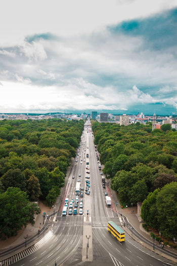 Paris Aerial View Arc De Triomphe Architecture Bridge - Man Made Structure Building Exterior Car City City Life Cityscape Cloud - Sky Day High Angle View Land Vehicle Mode Of Transport No People Outdoors Road Sky Street Traffic Transportation Tree Fresh On Market 2018 Autumn Mood