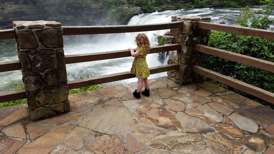 The Portraitist - 2017 EyeEm Awards Railing Waterfall Child Girl Dress Yellow Architecture Wood Rail Rail Overlook Outdoors Persistence  Inspiring Whitespace Scenics Background Meditation Zen Dress Backgrounds Childhood Endearing Tranquility Toddler  Place Of Heart Live For The Story Let's Go. Together. Breathing Space
