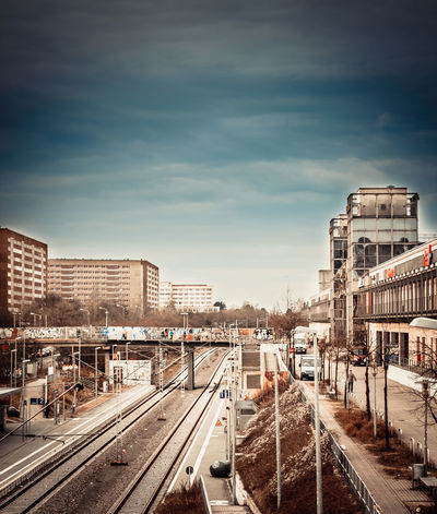 Architecture Building Exterior Built Structure City Cloud - Sky Day No People Outdoors Public Transportation Rail Transportation Railroad Track Railway Track Shunting Yard Sky Train - Vehicle Transportation