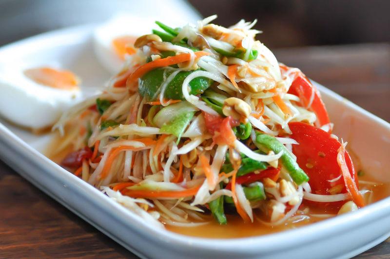 spicy salad,