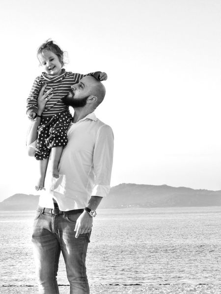 My two reasons... Two People Happiness Togetherness Beach Love Family Childhood Smiling Three Years Old  Lia Pekeña Fierecilla Black & White Capture The Moment Lovethedayswithmytwoloves Playa Del Vao Vigo Enjoying Life Babygirl B&w My Two Reasons