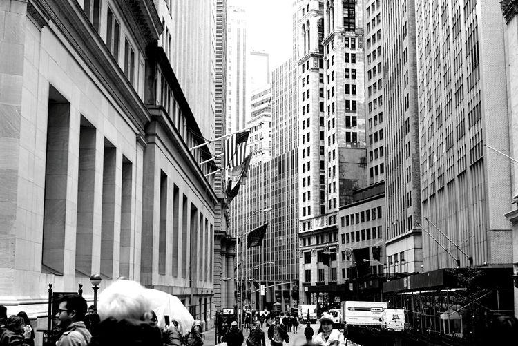 Taking Photos Hello World Wall Street  New York New York City