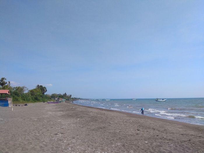 The beach under