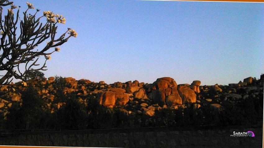 Rocks Golden Rock Sunset Hills Hillside