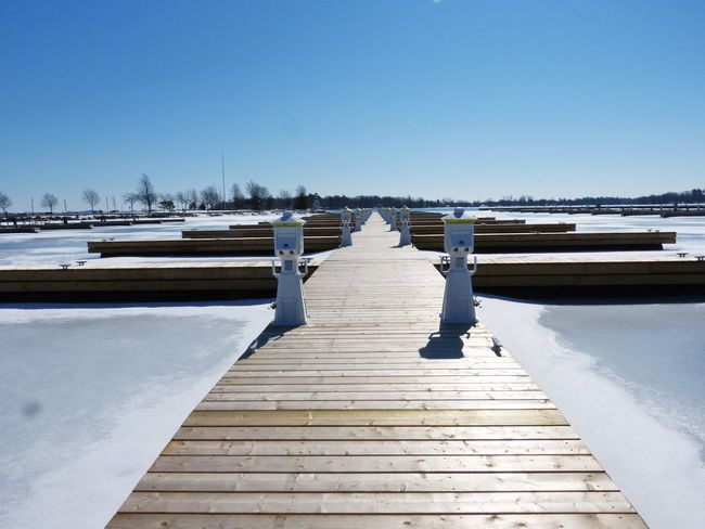 Beauty In Nature Blue Canada Clear Sky Day Ice Nature No Boats No People Outdoors Ponton Sky Sunlight Tranquility