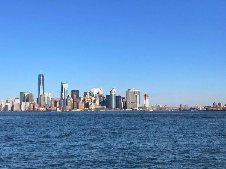 Urban Skyline Cityscape Waterfront Manhattan Broklyn Bridge Manhattan Skyline