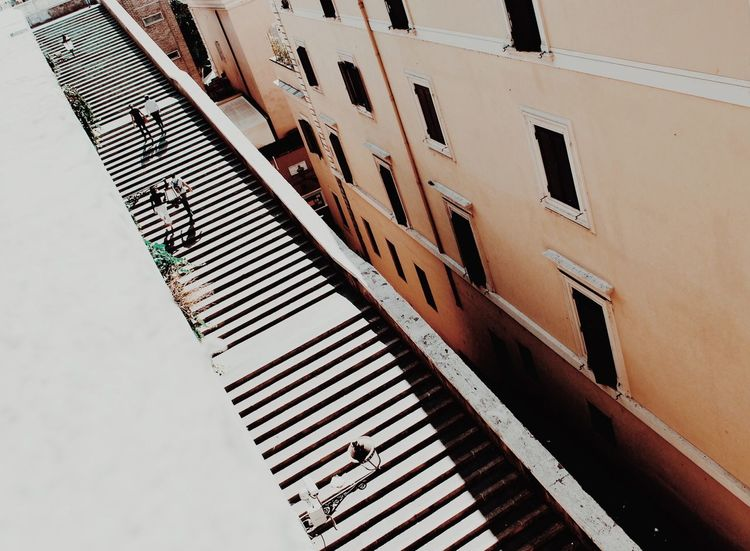 Spanish Steps Piazza Di Spagna Rome Minimalism Stairs People Climb Italy Paint The Town Yellow Connected By Travel The Traveler - 2018 EyeEm Awards