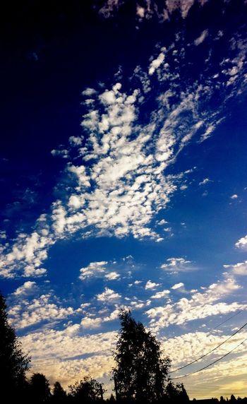 Enjoying Life Sunset Sky And Clouds 🌌