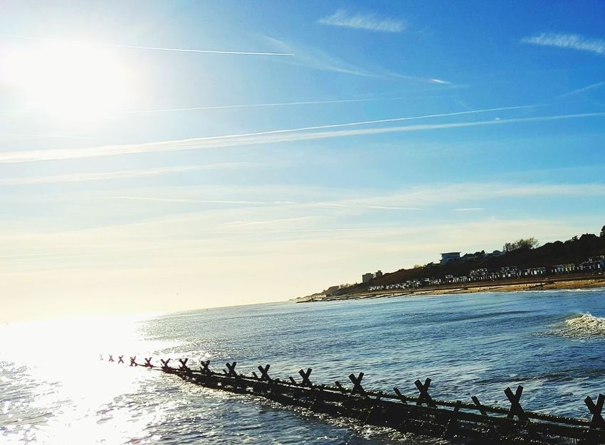 Sea Sky Outdoors Beauty In Nature No People Beach The Week On EyeEm Seaside_collection Water_collection Waterfront Seascape Photography Walton On The Naze Frinton Frinton On Sea Sun_collection Water Sea And Sky