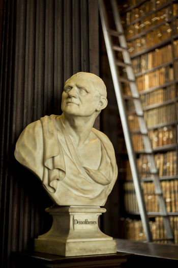 Book of Kells, Dublin Ancient Library Philosophy Trinity College Dublin Art And Craft Close-up College Day Greek Philosophy Human Representation Indoors  Knowledge Male Likeness No People Old Philosopher Sculpture Statue Trinity College