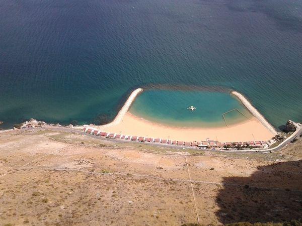 Allmyown Beach Huts Blue Sea Gibraltar Holidays Hotday No Edit/no Filter No People Steep Cliff