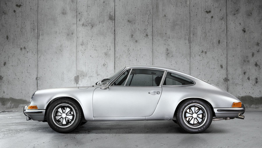 Porsche 911T 911t Auto Racing Car Concrete Day Design Detail Elégance Grey Icon Iconic Motorsport No People Oldtimer Porsche Porsche 911 Racecar Silhouette Sports Car Stylish Tires Veteran Wheel
