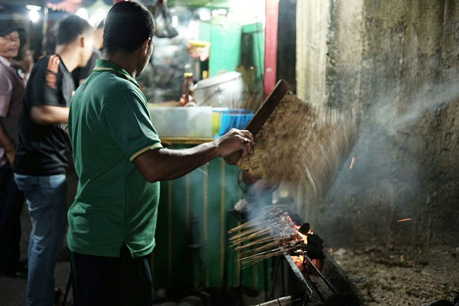 Sate Kambing Sate Satay Grilled Grilled Meat