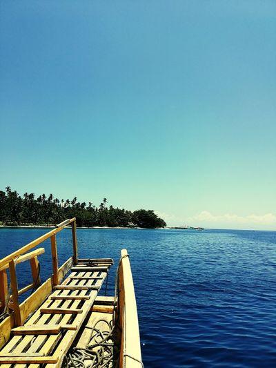 summer vibes Philippines Davao Samal Island Beach Summer ☀ Beachphotography Summer Views Summer Summertime Water Clear Sky Sea Tree Blue Sky Horizon Over Water Boat Sun Lounger Summer Exploratorium