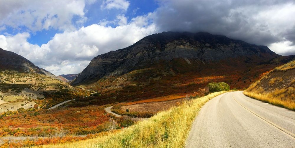 Country Road Leading Towards Provo Canyon