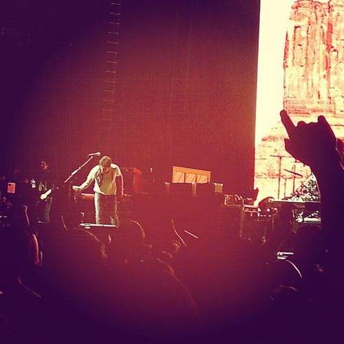 Tossing his guitar pick to some lucky duck. Mayerisback Bornandraised Johnmayer
