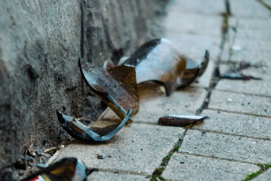 Attention Beer Broken Bottle Broken Glass Food And Drink On The Way Trash Alcohol Alcoholic Drink Be Careful Bottle Broken Careful Close-up Day Drink Floor No People Outdoors Shard Shards Waste