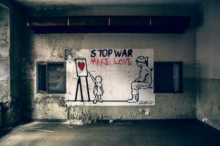 https://youtu.be/Jk68D91hTXw ❤ STOP WAR - MAKE LOVE ❤ Woodstock Stop War Stop Terrorism Make Love Not War No People Indoors  Street Art Abandoned Lost And Found Urban Decay Urban Exploring Urbex Colourful Forgotten Places  Aband0n_all_h0pe Interestingplaces Vergessene Orte Message Love Love❤ Forgotten Places  Abandonedplaces Abandoned_junkies Quotes Quotesandsayings