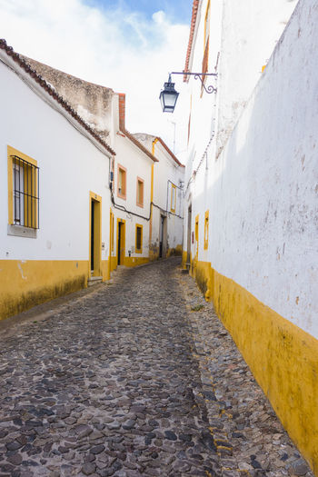 Street in Evora, portugal. Architecture Evora, Portugal Architecture Building Exterior Built Structure No People Nobody Outdoors Side View Street Évora  Paint The Town Yellow