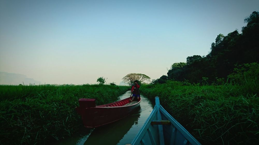 Canoeing around Myanmar . Nature Canoeing Silvia In Myanmar Burma Relaxing Landscape On The Way My Year My View