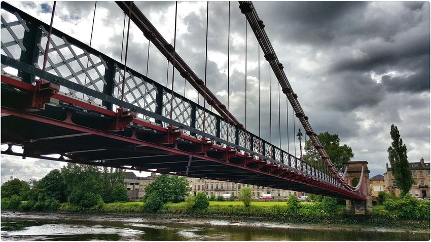 Bridge Suspension Bridge Enjoying The Light Enjoying The Colours The View From Here 2015 07 08