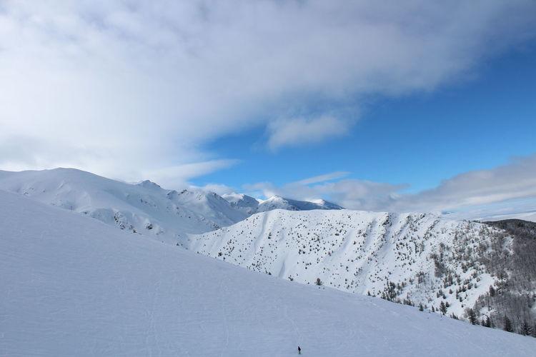 Brezovica Kosovo Montana Snow ❄ EyeEm Selects California Dreamin Mountain Snow Cold Temperature Winter Snowcapped Mountain Polar Climate Idyllic Sunlight Point Of View Sky
