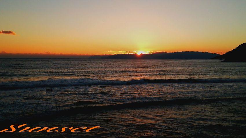 現場帰りに~(^_^;))) Sunset Miyazaki Kushima Nature Enjoying Life 夕凪 Healing Fresh Air Suwa beach Yuka  Relaxing Pray For Kyushu