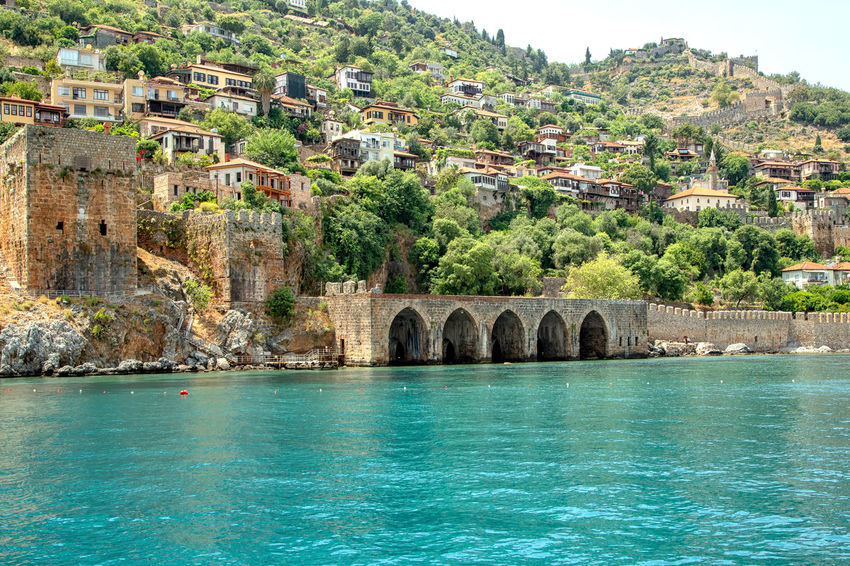 Alanya Coast Alanya Historical Monuments Historical Sights Mediterranean  Mediterranean Sea Tourist Attraction  Turkey Alanya Castle Arch Architecture Archology Built Structure Connection Emeraldgreen Historical Ship Yard Nature Sea Seascape Shipyard Stone Material Stone Wall Transportation Travel Destinations Water Waterfront