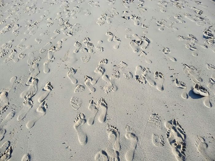 "!!!!!! Well. there seems to be something mysterious about these footprints and I cannot explain it to myself: Everytime I look at this pic, the footprints are ""deep"" at first sight, which - in my opinion - they logically should be. Right? But .... after an eye movement, their appearance change into "" raised"", i.e. relief like .... Then after a while back into ""deep"" and so on .... OPTICAL Illusion?? Check This Out please, and tell me which way YOU see them, will you? Footprints In The Sand Beach Photography Fuerteventura Footsteps Ladyphotographerofthemonth Being A Beach Bum Beach Sand Prints Of Bare Feet In The Sand White Album Studies Of Whiteness White Sand Beach Beliebte Fotos Popular Photos Holiday POV Canary Islands Round Trip Fuerteventure Landscapes With WhiteWall Things I Like The KIOMI Collection Break The Mold Art Is Everywhere"