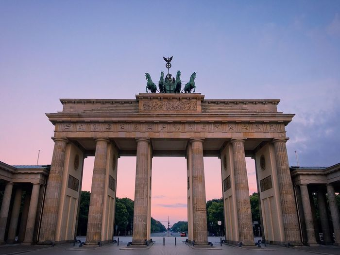 Low angle view of brandenburg gate
