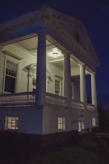 """The Infamous Concert Hall at the Stanley Hotel"" (2015) Architecture Building Exterior No People Night Photography Dark Art Nightmarish Haunting Images Outdoor Photography Springtime Estes Park, CO White Building Creepy Building Things That Go Bump In The Night Outdoors"